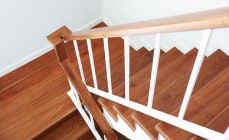 La rampe d'escalier