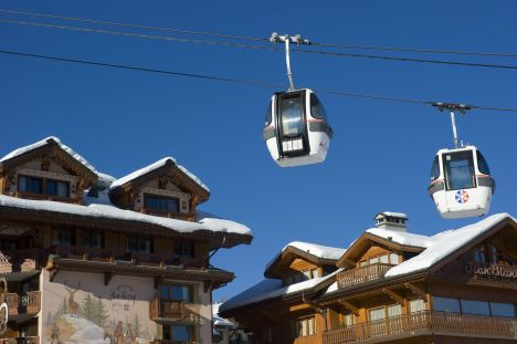 La station de Courchevel en Savoie, avec un marché de l'immobilier très haut de gamme