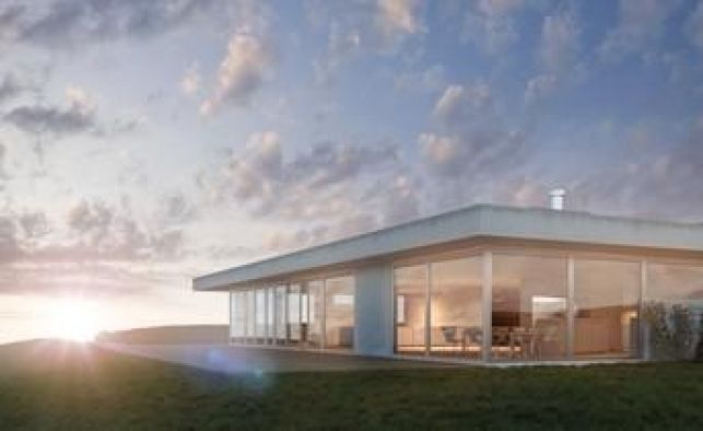 Une maison plein pied avec toiture plate