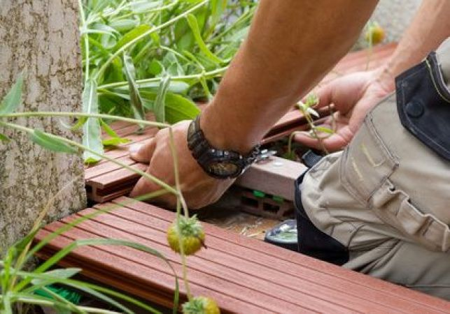 Lambourdes pour terrasse en bois