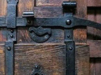 Le loquet d'une porte