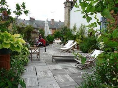 Le patio de jardin