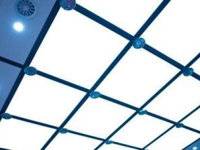 Le plafond en verre, véritable puits de lumière