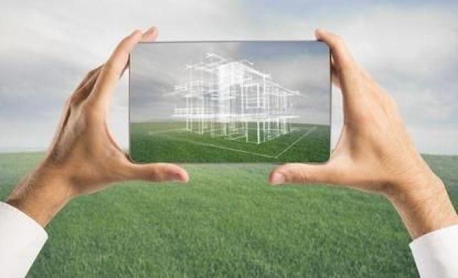 Le plan de façade d'une maison