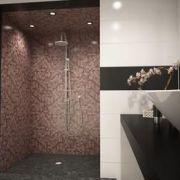 Le revêtement d'une douche