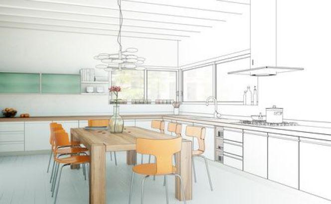 Le schéma d'une cuisine