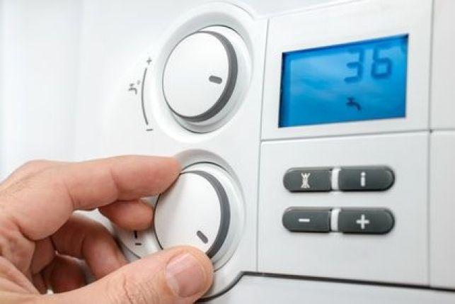 Le thermostat d'un chauffage central