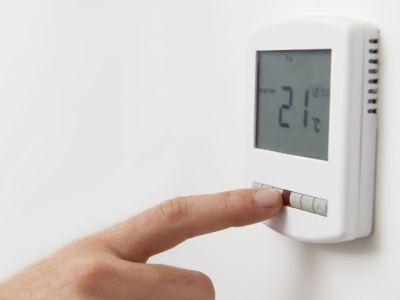 Le thermostat programmable d'un radiateur