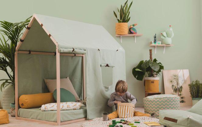 Le vert est à l'honneur dans cette chambre d'aventurier ! © Nobodinoz