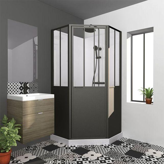Une cabine de douche atelier pour habiller un coin