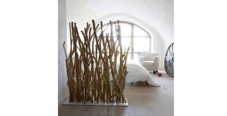 Les cloisons en bois flott d coratives et chaleureuses for Bois flotte blanchi