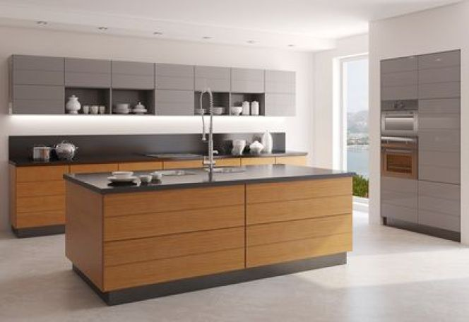 Les cuisines en bois contemporain, bois moderne