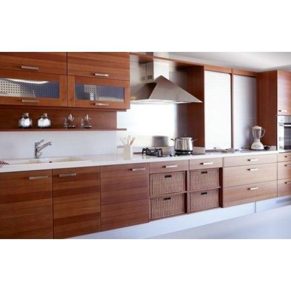 Les cuisines en bois traditionnel, esprit rustique
