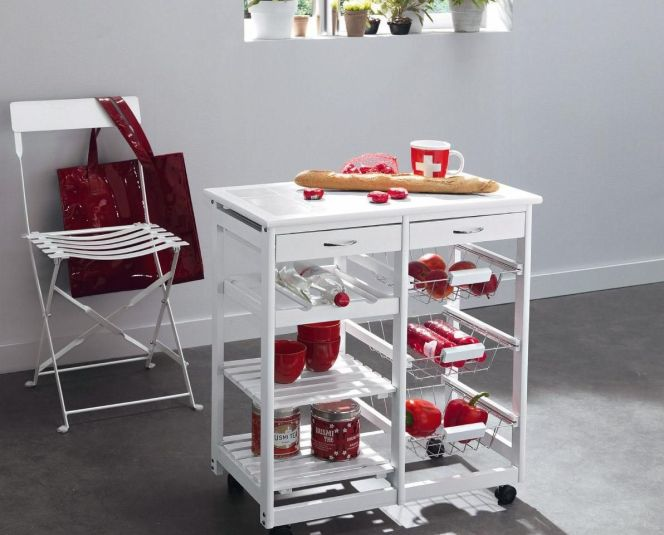 les dessertes de cuisine pratiques roulette pour micro onde ou plateau. Black Bedroom Furniture Sets. Home Design Ideas