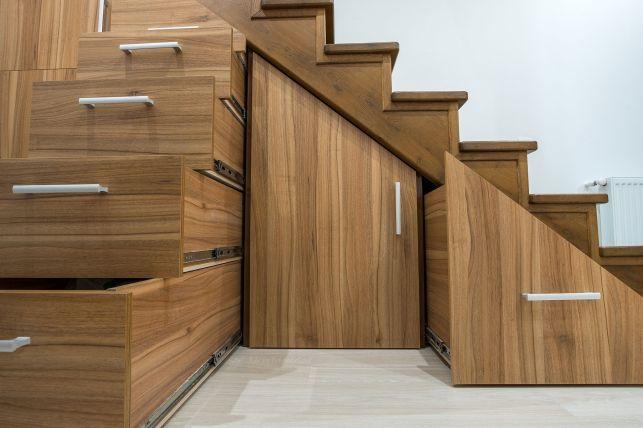 Les escaliers avec rangements intégrés