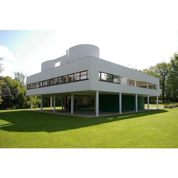 Les Maisons Style Corbusier Toit Terrasse Plan Libre Fenetre Bandeau