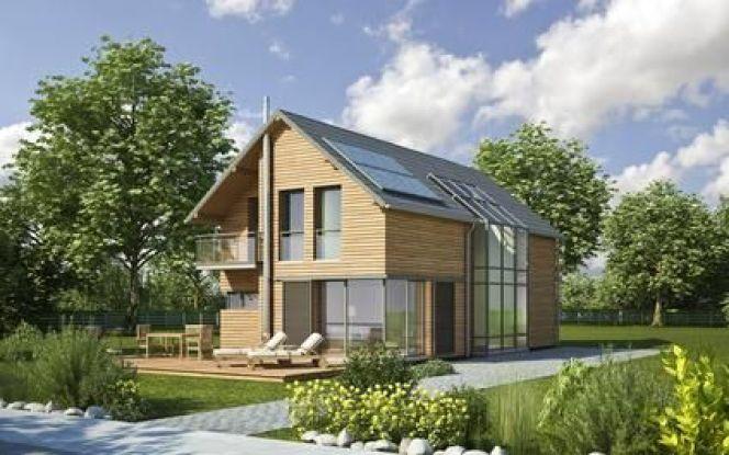 Une maison construite à base de matériaux écologiques