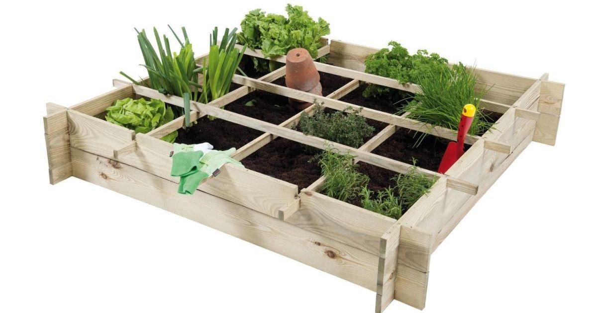 Les potagers en carr pour jardiner sur une terrasse ou un for Carre potager sur balcon