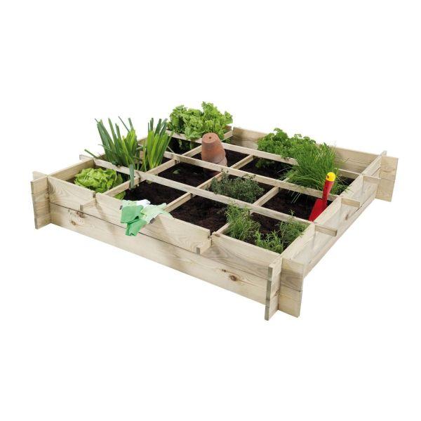 Les potagers en carr pour jardiner sur une terrasse ou un for Calcul metre carre d une piece