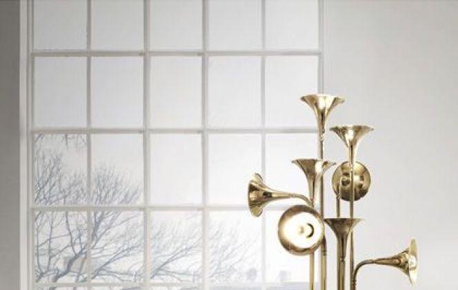 Ce luminaire très original et très design sera du plus bel effet dans votre salon et éclairera ce dernier d'une lumière chaleureuse. © DelightFull