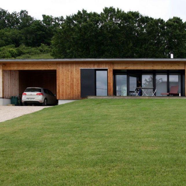 Une maison d'architecte moderne de plain pied