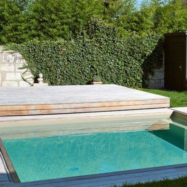 La terrasse amovible en bois pour protéger votre mini piscine