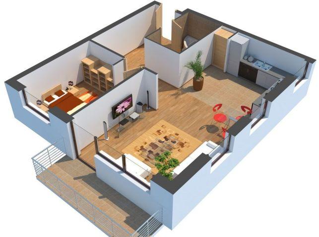 Modélisation d'une maison en 3D
