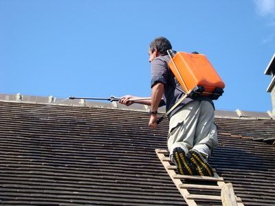 Nettoyer une toiture au jet basse pression