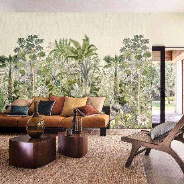 Un papier peint panoramique tropical qui appelle au voyage