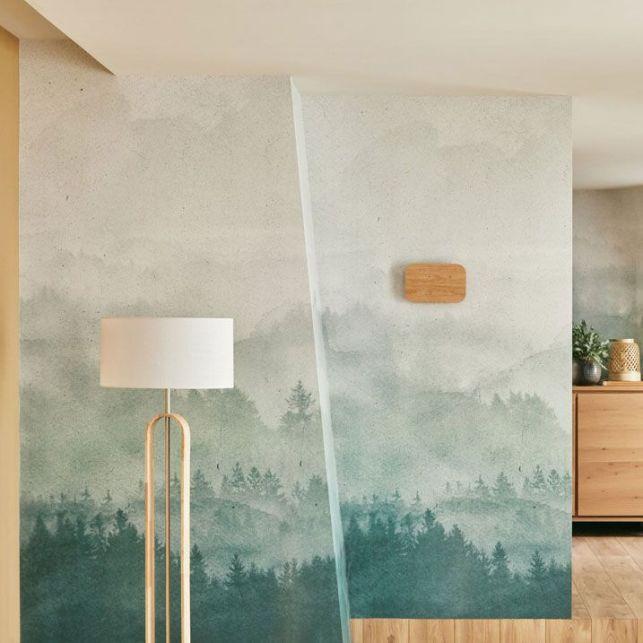 Un papier peint panoramique dans un style scandinave