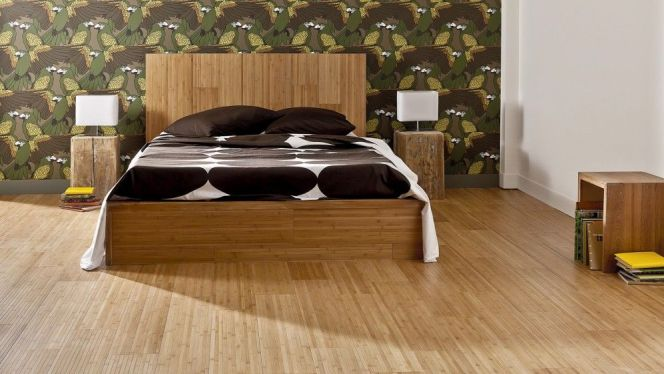 notre s lection des plus beaux parquets parquet en bambou de saint maclou. Black Bedroom Furniture Sets. Home Design Ideas