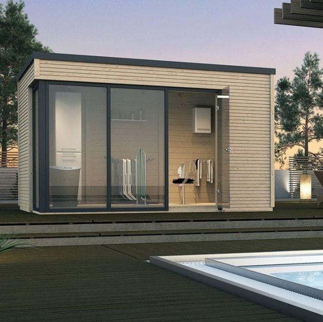 Un poolhouse moderne pour abriter votre salon d'été