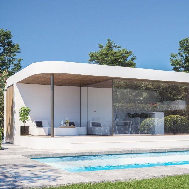 Un poolhouse luxueux et design