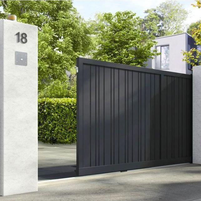 Un portail en aluminium moderne et design