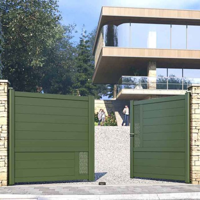 Apportez une touche de couleur à votre entrée grâce au portail vert