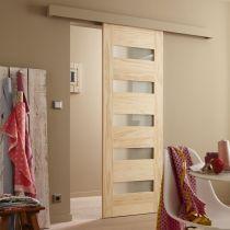 Produits la porte coulissante beaut pratique galandage ou en applique - Porte coulissante leroy ...