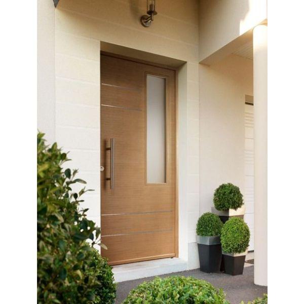 Porte d 39 entr e calgary en ch ne par lapeyre - Poignees de portes interieures lapeyre ...
