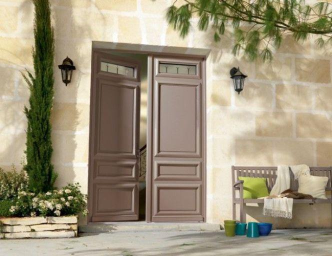Notre s lection des plus belles portes d 39 entr e porte d 39 entr e fusain en bois de bel 39 m - Porte d entree en bois ...