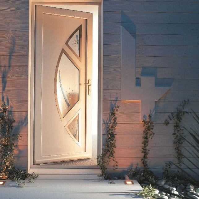 La porte simple en PVC blanc