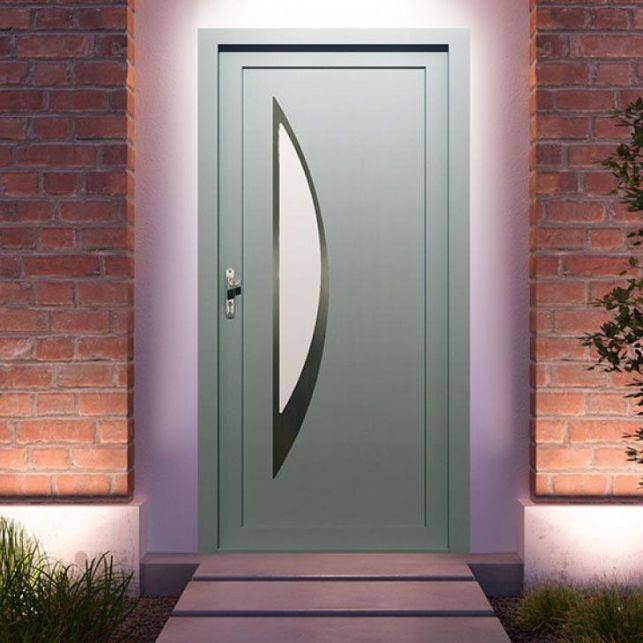 La porte contemporaine en acier galvanisé