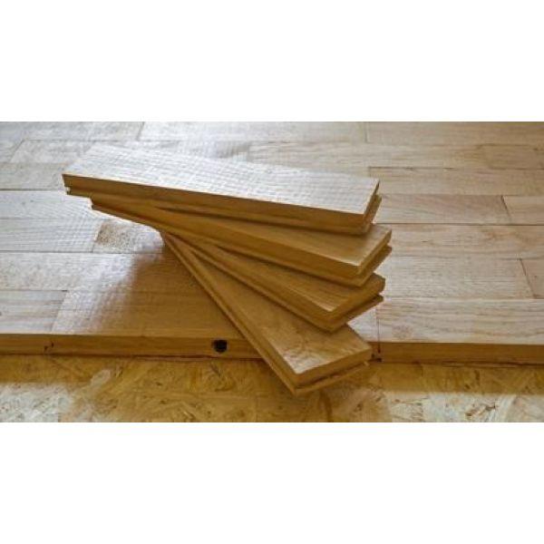 pose d un parquet en bois massif ch ne ch taigner h tre bambou teck. Black Bedroom Furniture Sets. Home Design Ideas