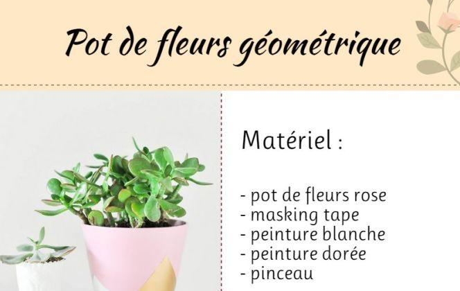 DIY : customiser un pot de fleurs pour le rendre tendance ! © M-Habitat