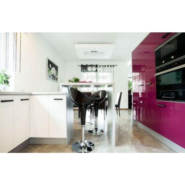 Meuble cuisine violet cuisine aubergine et grise pas cher for Les meubles de cuisine