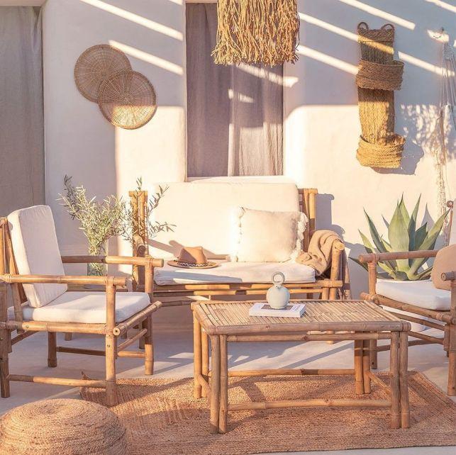 Un salon de jardin en bambou pour une ambiance boho