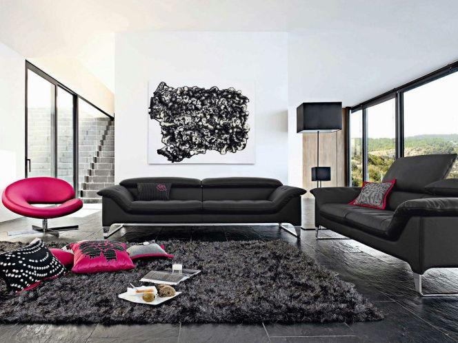 Ce mélange de couleurs apportera une touche de vivacité à ce salon moderne et sophistiqué.© Roche Bobois