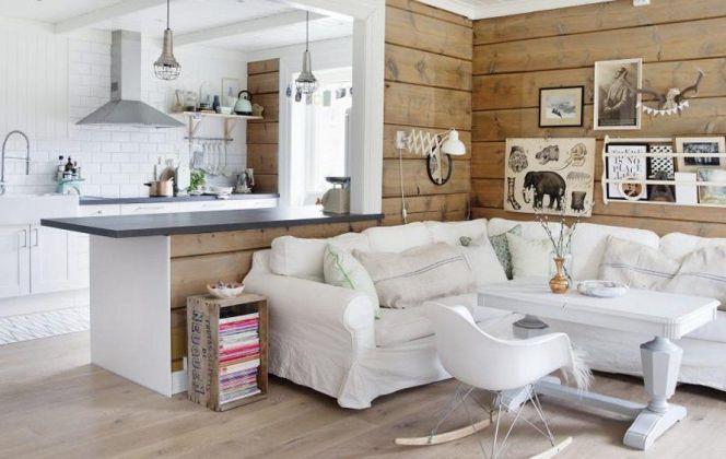 Salon scandinave blanc & bois par Marthe Holien Bo © Marthe Holien Bo