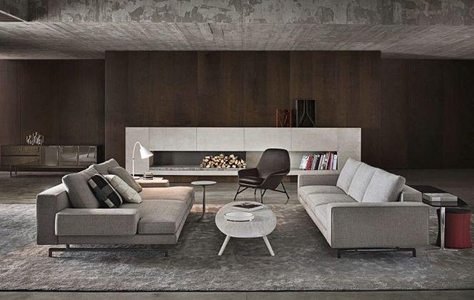 Ce salon très chaleureux vous fera apprécier vos moments de détente. © Minotti