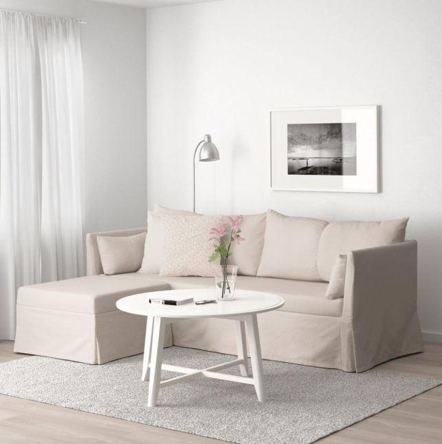 SANDBACKEN - Canapé d'angle 3 places beige - 369 €