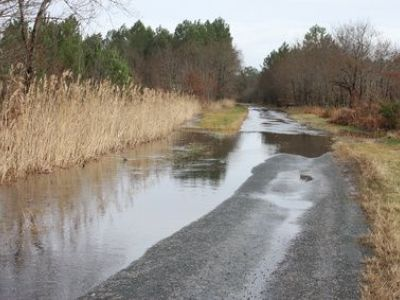 Terrain inondé