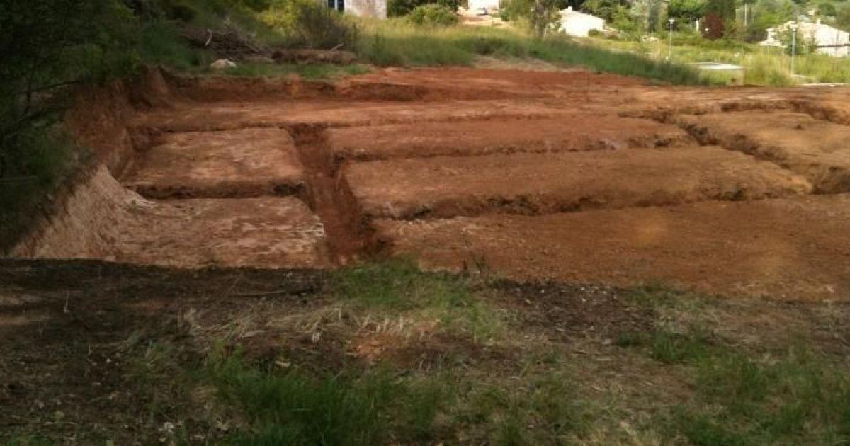 Terrassement la r alisation des rigoles for Terrassement et fondation
